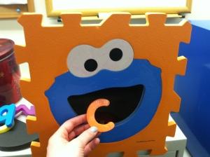 Oooo! The letter C! Num num num.