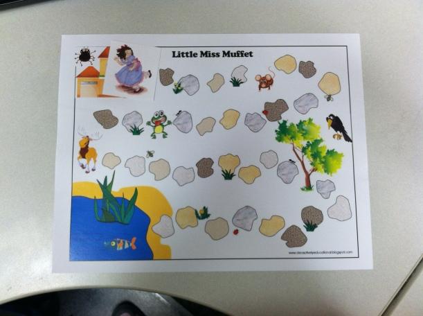 Follow Little Miss Muffet through her ordeal.